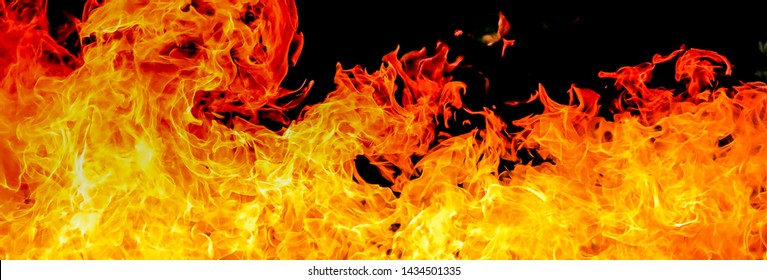 Hot Burning fire, dancing flame use for  background.