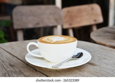 hot cappuccino coffee