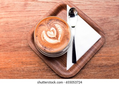 Hot cappuccino coffee cup background