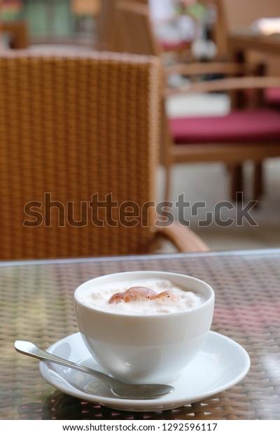 Hot Cappuccino Coffee Espresso Based Coffee Stock Photo
