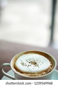 hot capuchino coffee