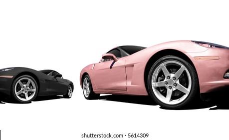 Hot Cars - Pink & Black (4800x2700)