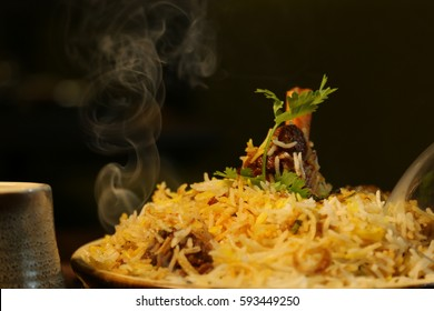 hot chicken biryani