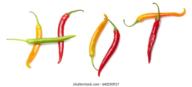 hot chili pepper isolated on white background