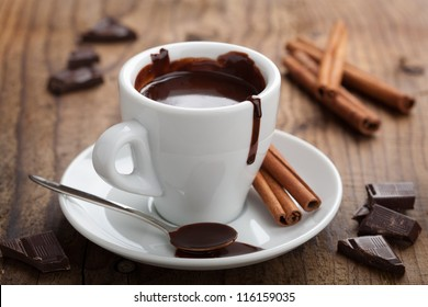 hot chocolate with cinnamon