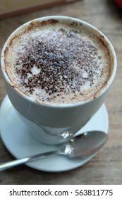 hot chocolate in cup