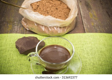 hot chocolate and food processing cocoa beans