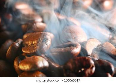 hot cofe bean