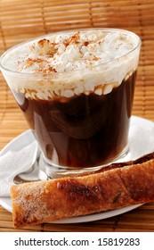 hot coffee close up