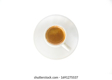 scharfer Kaffeespresso auf Weiß oder einzeln