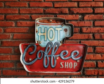 Hot coffee shop vintage
