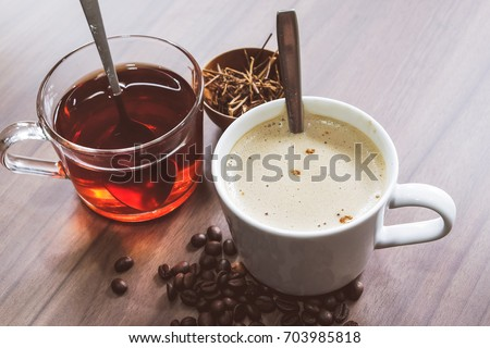 Hot coffee and tea