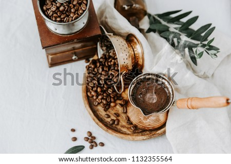 Hot coffee in Turkish