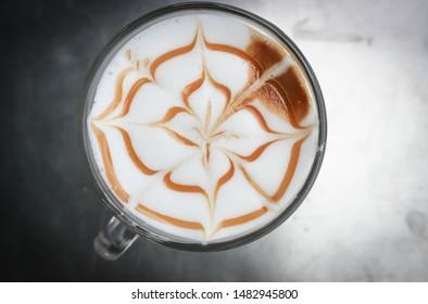 hot cofffee, cappuccino coffee or caramel latte coffee