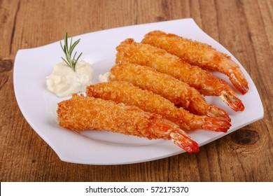 Hot crispy Prawn tempura with garlic sauce