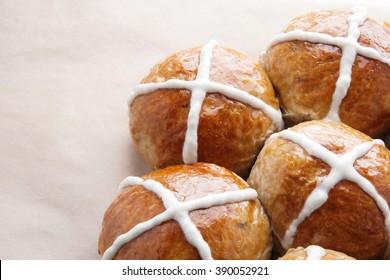 Hot cross buns. Easter. Good Friday