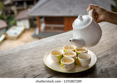 Hot cup tea at Pha Hi village