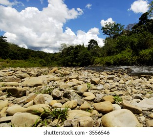 Hot day by the riverbank in Sabah, Malaysia