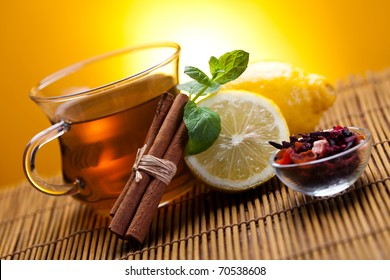 Hot delicious tea