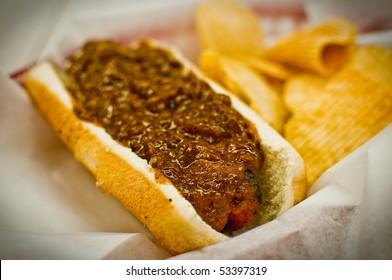 Hot Dog at Ben's Chili Bowl
