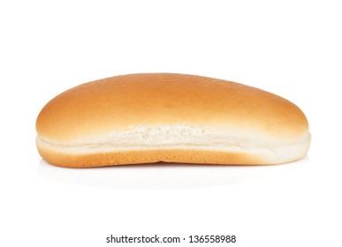 Hot dog bun. Isolated on white background