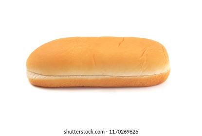 Hot Dog Bun on a White Background