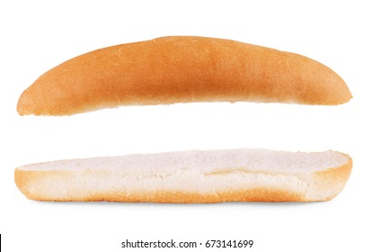 hot dog buns. Isolated on white background