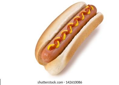 Hot dog isolated on a white background