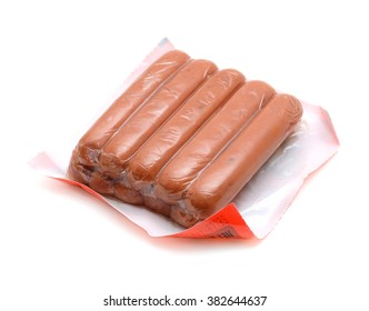 hot dog package on white background