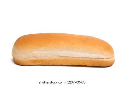 hot dog roll isolated on white background