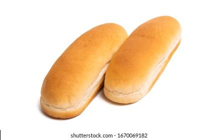 hot dog rolls isolated on white background