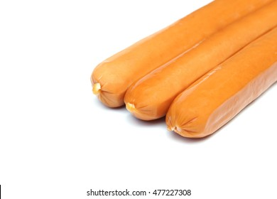 Hot dogs isolated on white