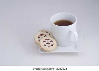 Hot Drink and Cookies, room for copy/text