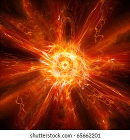 Hot explosion background design