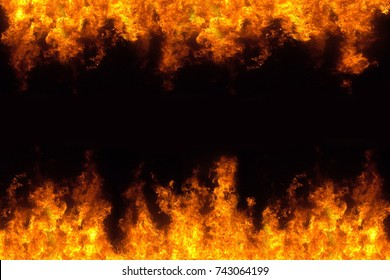 hot fire burning frame background