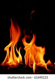 hot fire flame for background