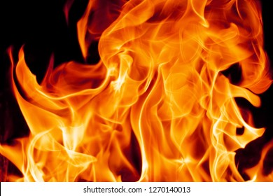 hot fire flames - abstract background and texture concept, elegant visuals