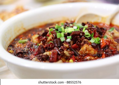 hot fish, chinese food Sichuan Cuisine