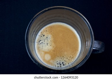 hot and fresh coffee in the cup