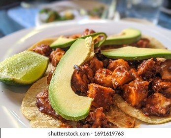 Hot, Fresh, Delicious Tacos Served On A Plate