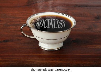 Hot fresh Socialist black coffee ready to start the day.