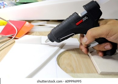 hot glue gun/it is a popular device that is currently in use.