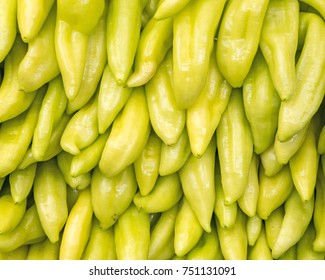 hot green peppers, colorful natural background