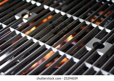 a hot grill getting fired up for barbecue