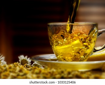 hot infusion of chamomile