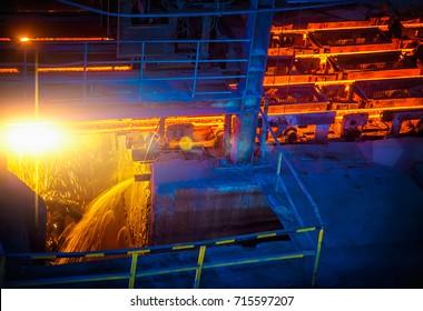 Hot ingot after molten steel casting