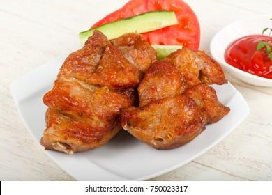 Hot, juycy and tasty Pork BBQ