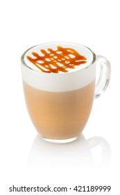 hot latte with caramel stretchy