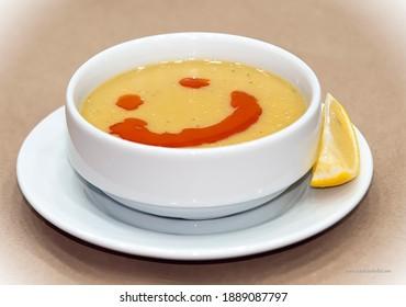 hot lentil soup and sauce