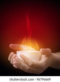 Hot magic drink